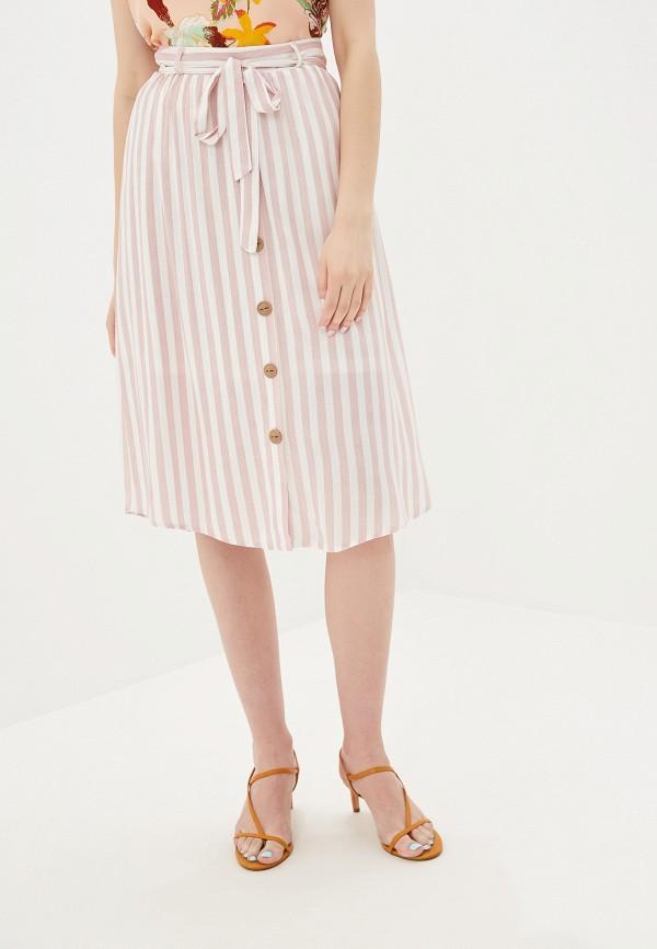 женская юбка vero moda, розовая