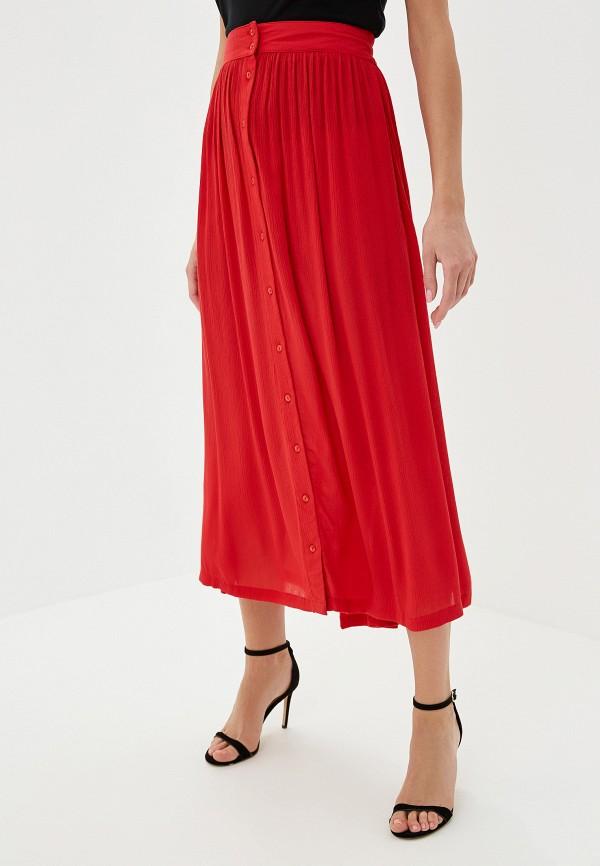 женская юбка vero moda, красная