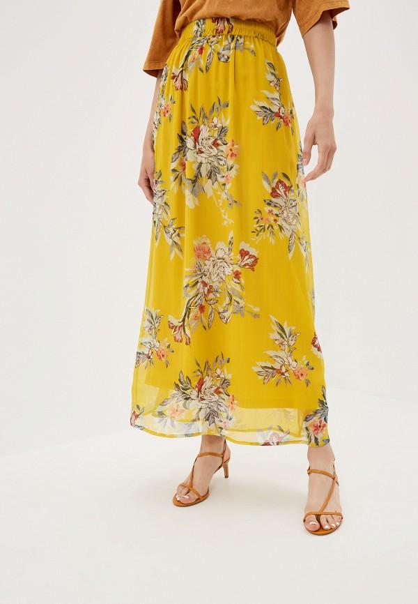 женская юбка vero moda, желтая