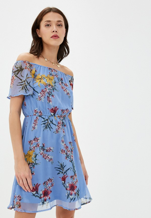 женское платье vero moda, голубое