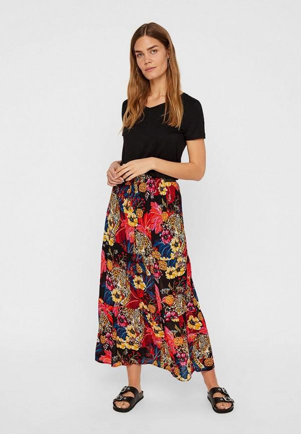 Фото 2 - женскую юбку Vero Moda разноцветного цвета
