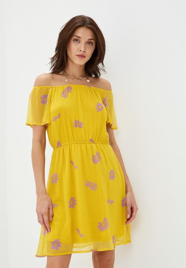 женское платье vero moda, желтое