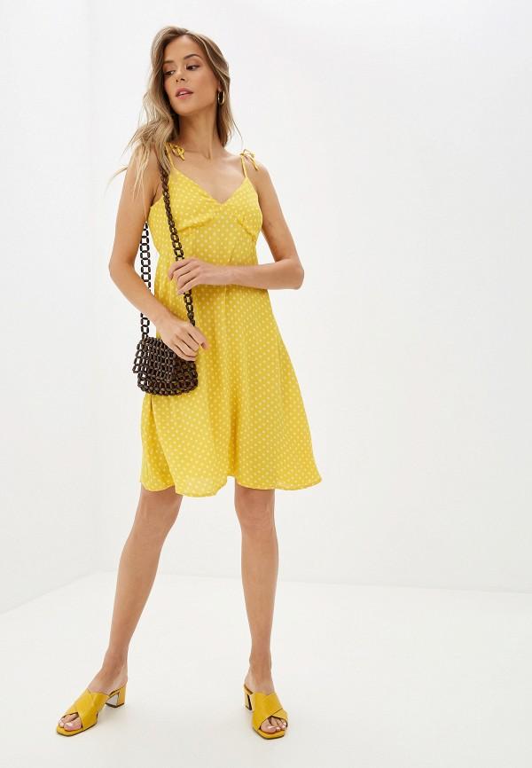 Фото 2 - женский сарафан Vero Moda желтого цвета