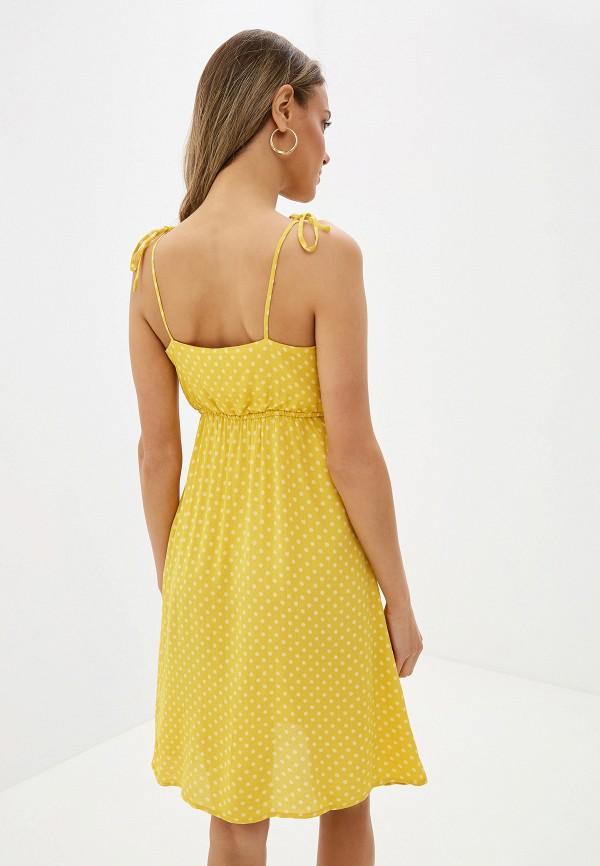 Фото 3 - женский сарафан Vero Moda желтого цвета