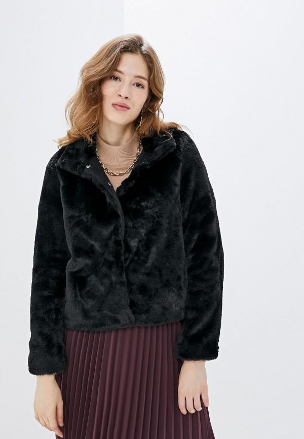 женская шуба vero moda, черная