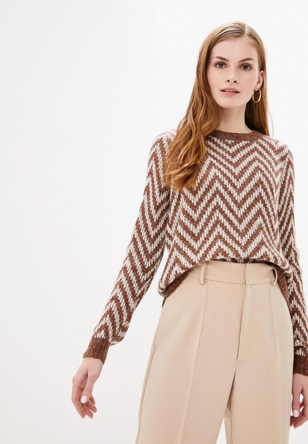 женский джемпер vero moda, коричневый
