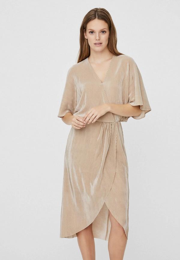 женское повседневные платье vero moda, золотое