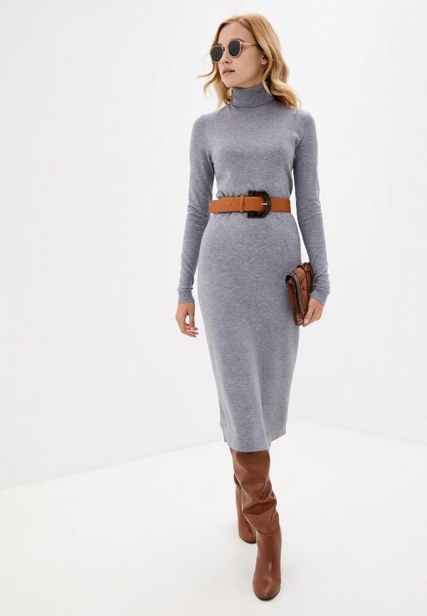 трикотажное модное платье фото