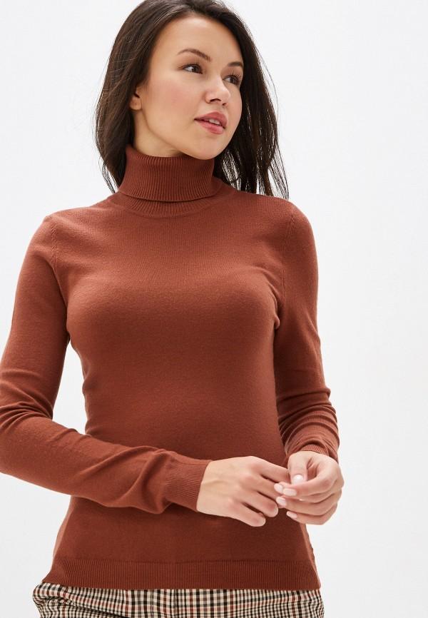 женская водолазка vero moda, коричневая