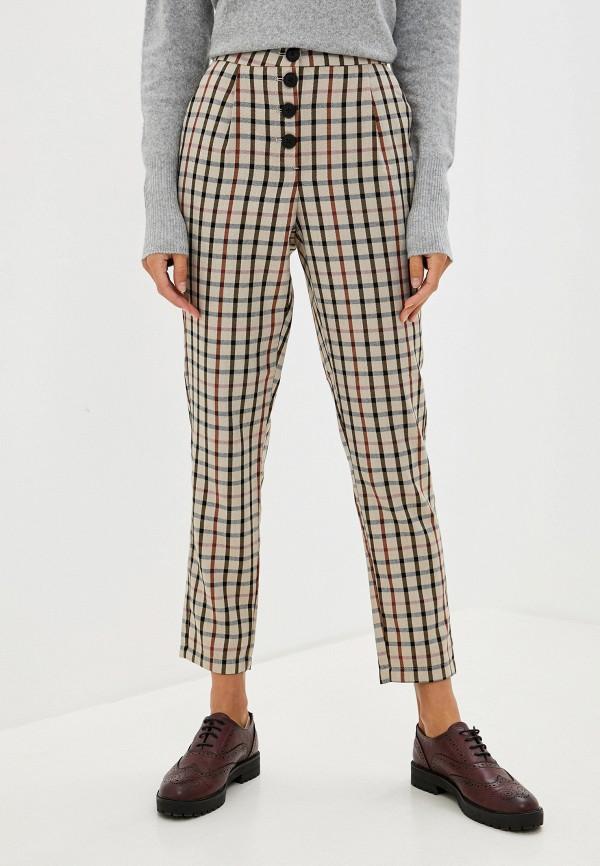 женские повседневные брюки vero moda, бежевые