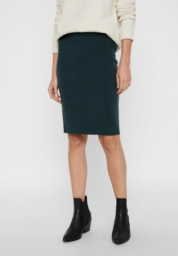 женская зауженные юбка vero moda, бирюзовая
