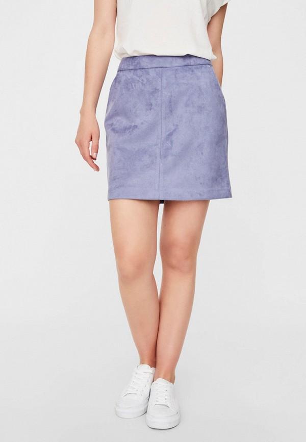 женская юбка vero moda, фиолетовая