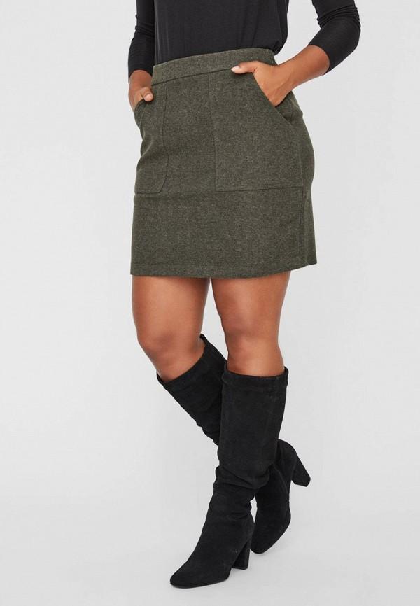 женская прямые юбка vero moda, бежевая