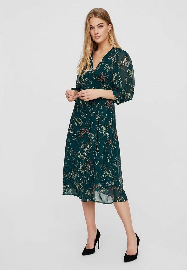 женское повседневные платье vero moda, бирюзовое