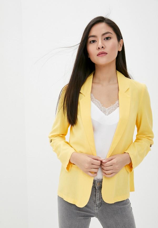 женский пиджак vero moda, желтый