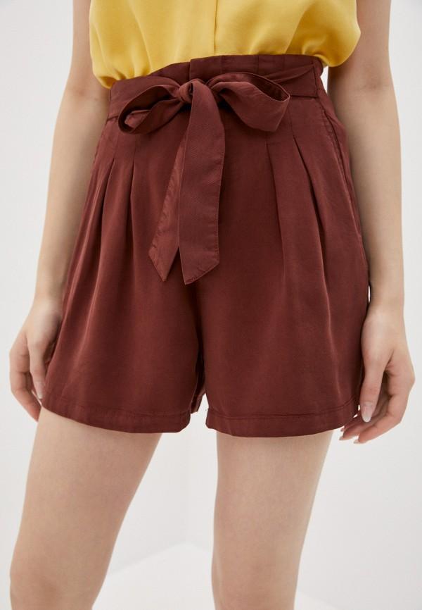 женские повседневные шорты vero moda, коричневые
