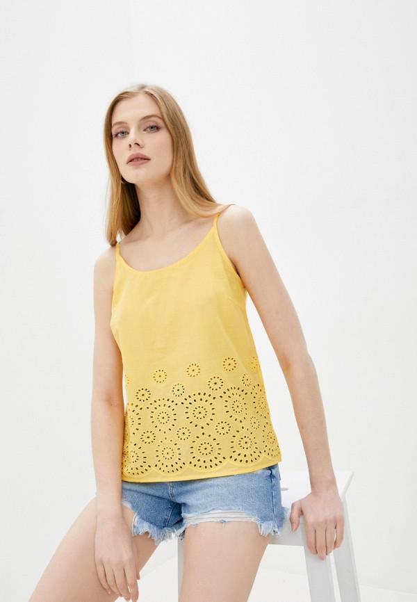 женский топ vero moda, желтый