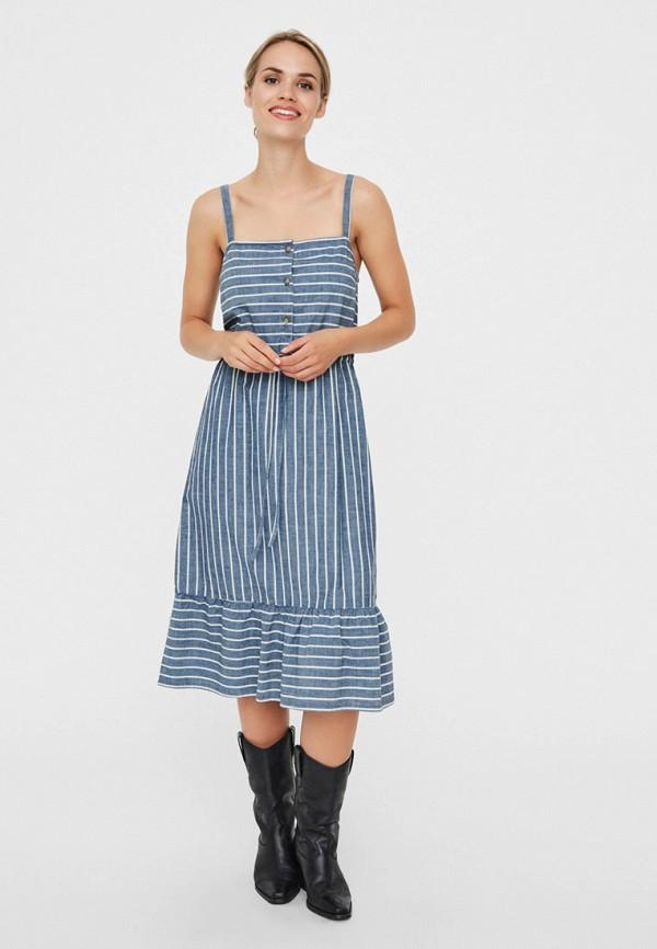 женский сарафан vero moda, синий