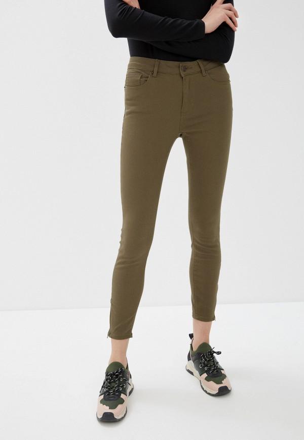 женские повседневные брюки vero moda, хаки