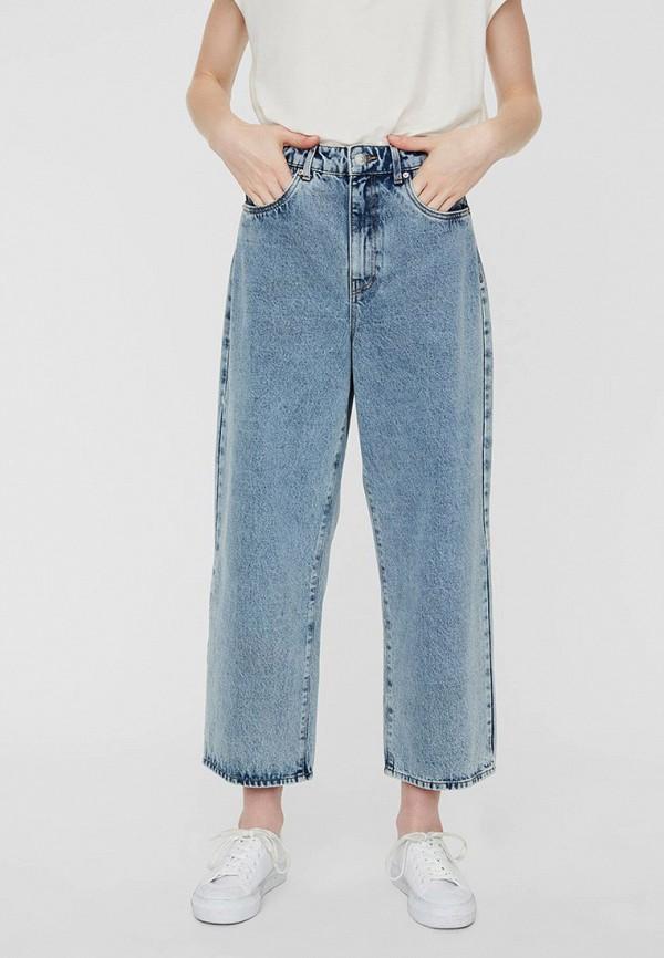 женские джинсы клеш vero moda, голубые