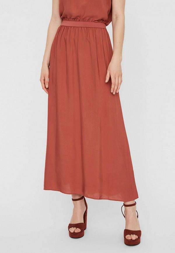 женская юбка vero moda, бордовая