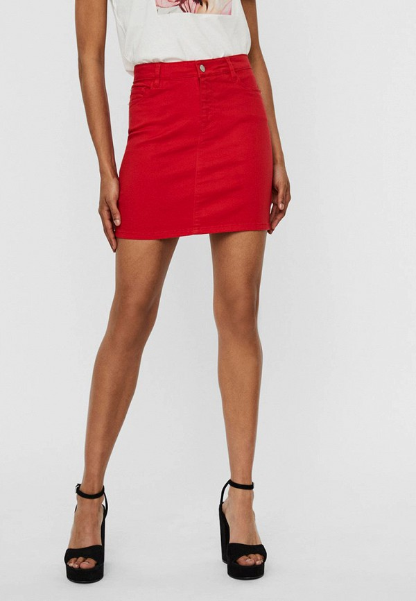 женская зауженные юбка vero moda, красная