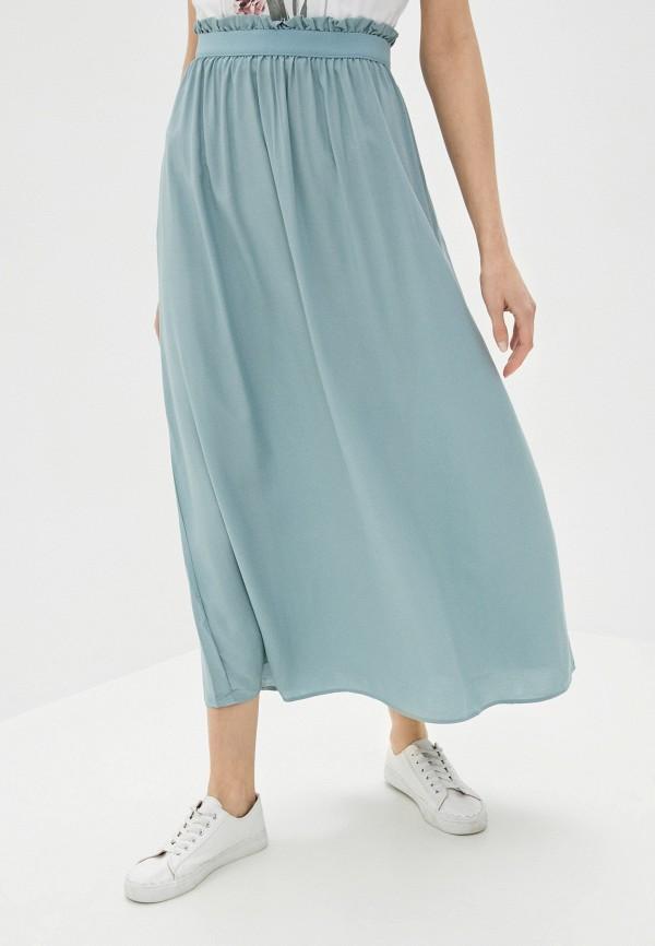 женская юбка vero moda, голубая