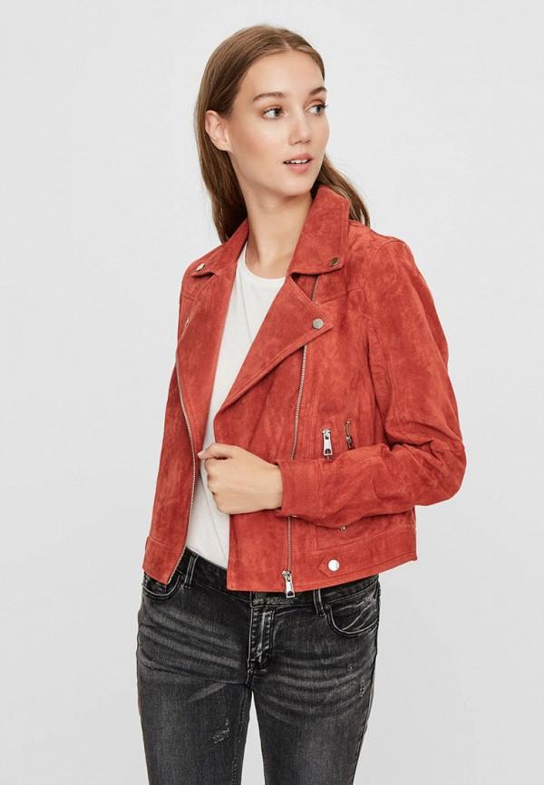 женская куртка vero moda, красная