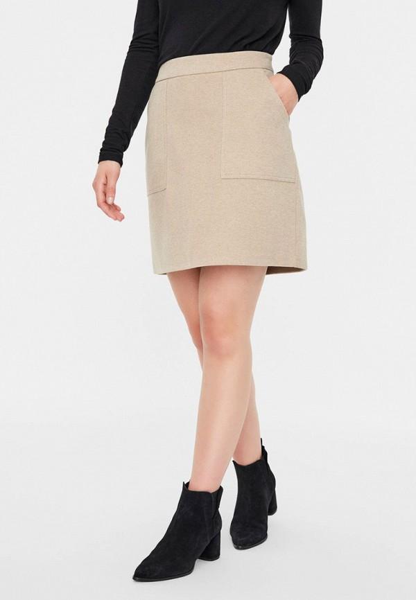 женская прямые юбка vero moda, хаки