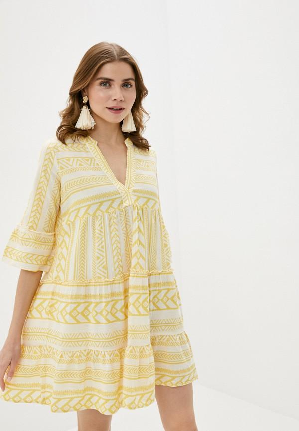 женское повседневные платье vero moda, желтое
