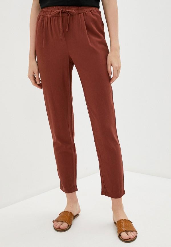 женские повседневные брюки vero moda, коричневые