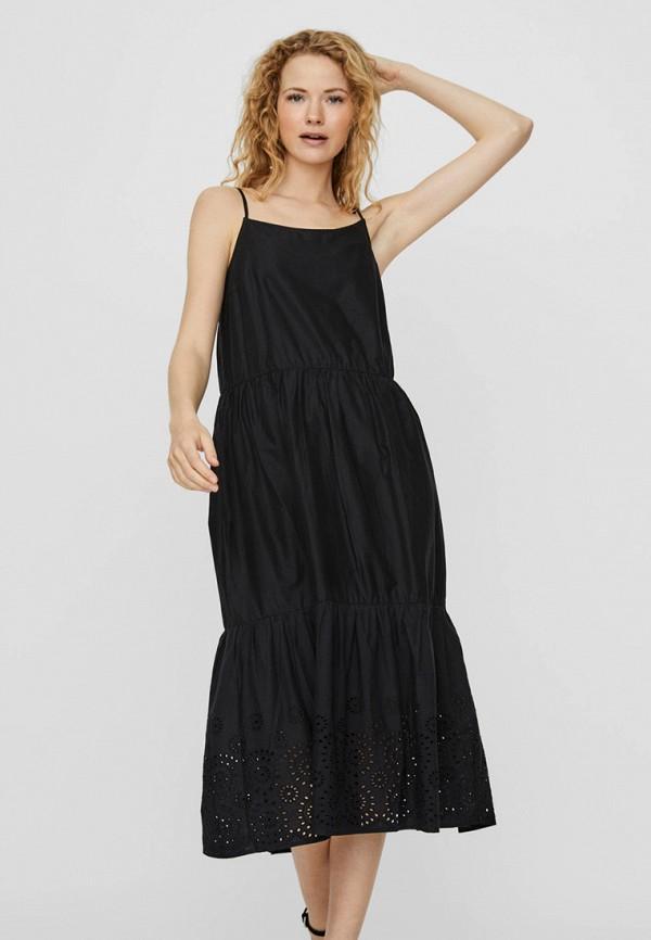 женский сарафан vero moda, черный