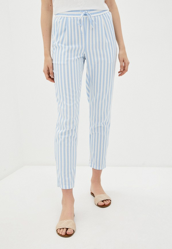 женские повседневные брюки vero moda, голубые