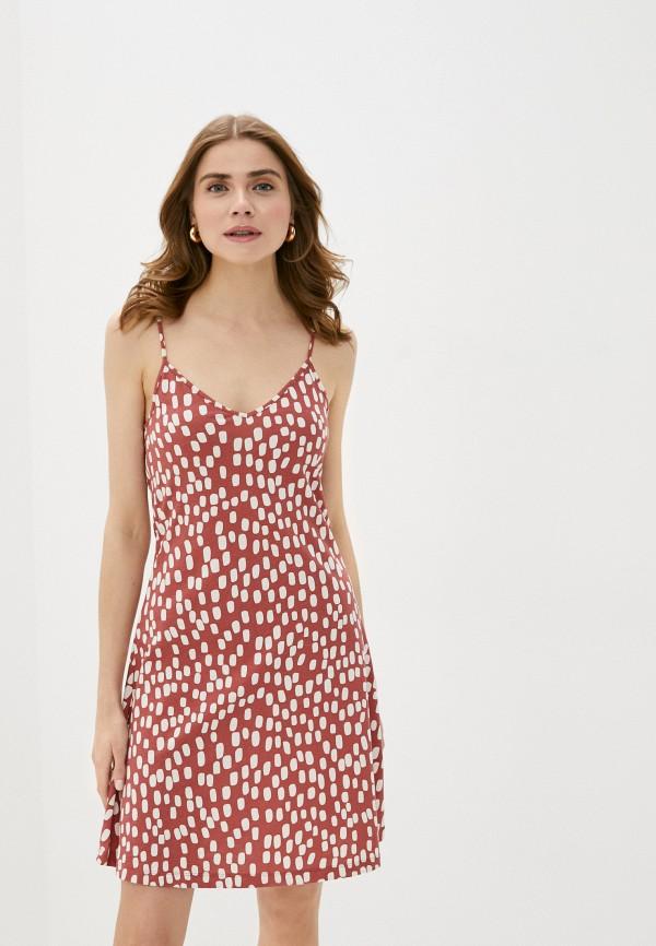 женский сарафан vero moda, коричневый