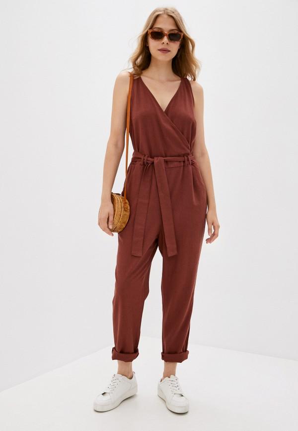 женский комбинезон vero moda, коричневый