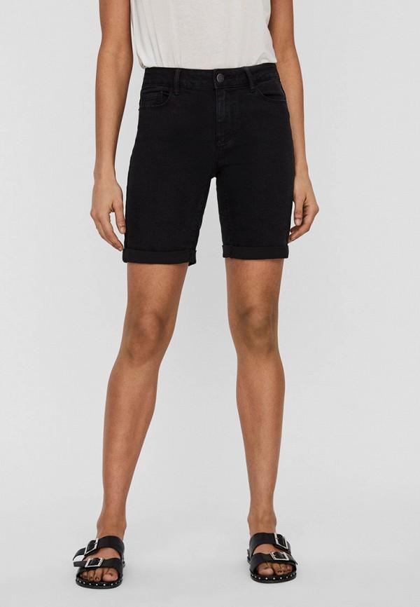 женские джинсовые шорты vero moda, черные