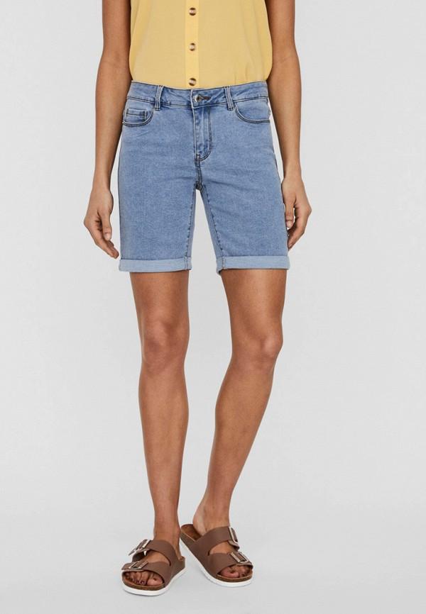 женские джинсовые шорты vero moda, голубые
