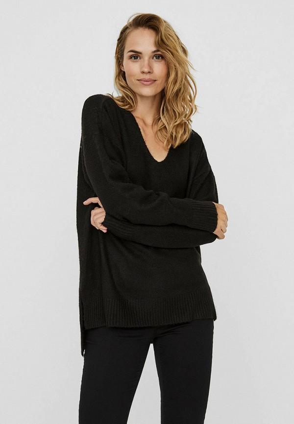 женский пуловер vero moda, черный