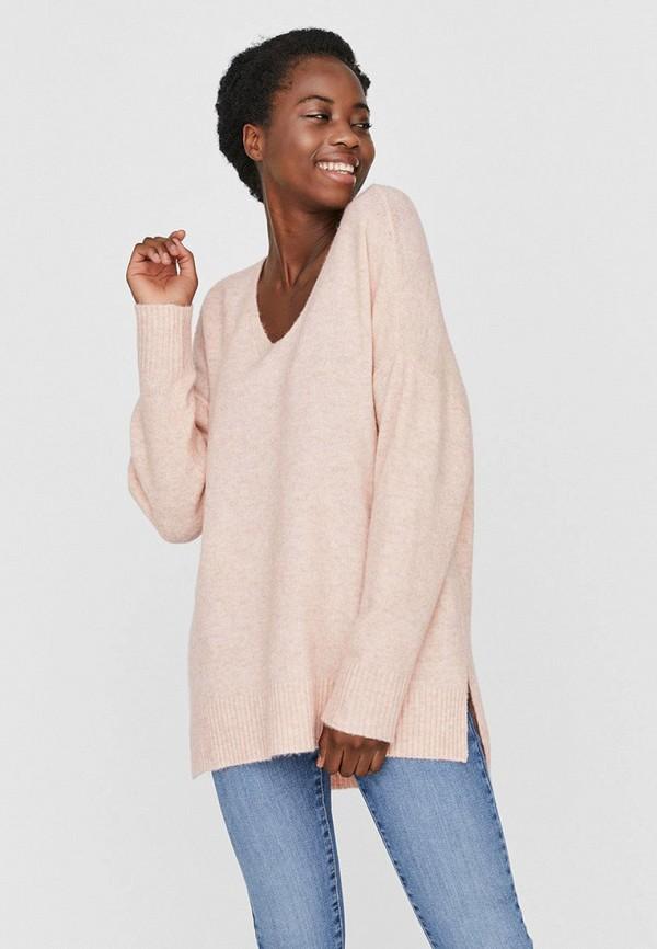 женский пуловер vero moda, розовый