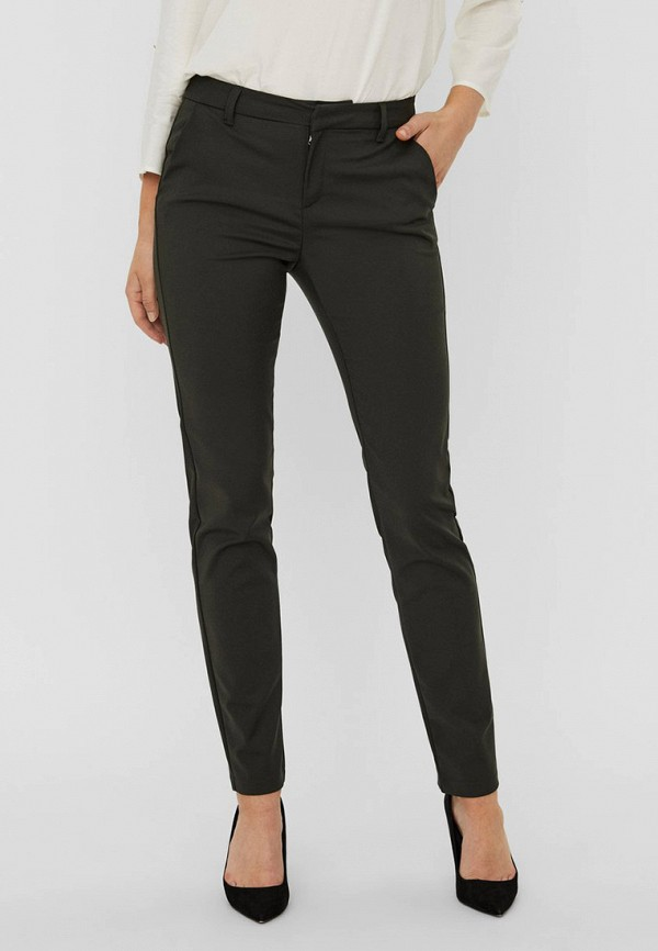 женские повседневные брюки vero moda, серые
