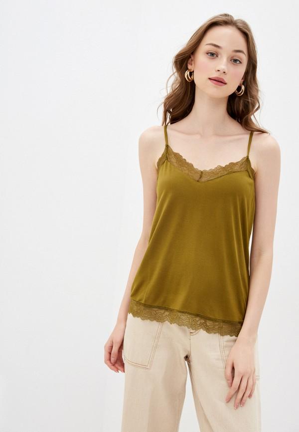 женская майка vero moda, зеленая