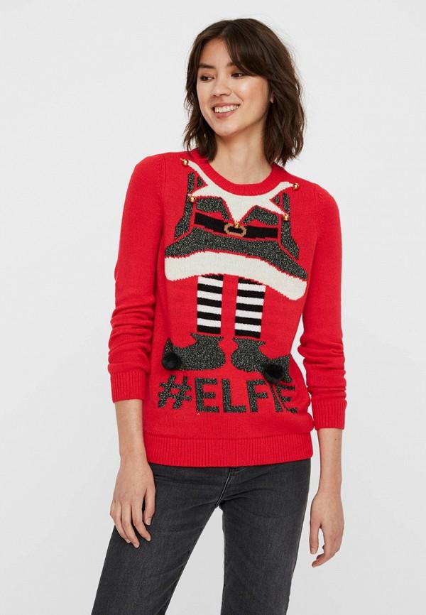 женский джемпер vero moda, красный