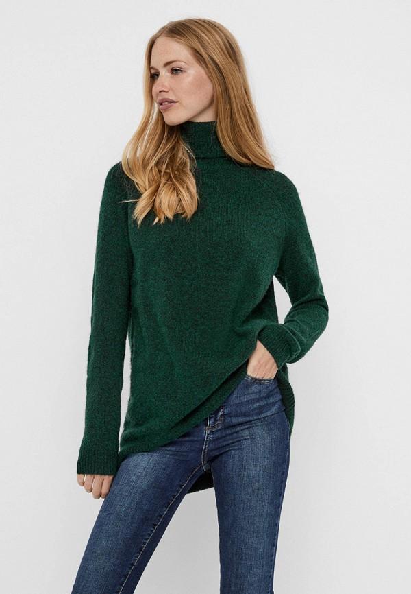 женский свитер vero moda, зеленый