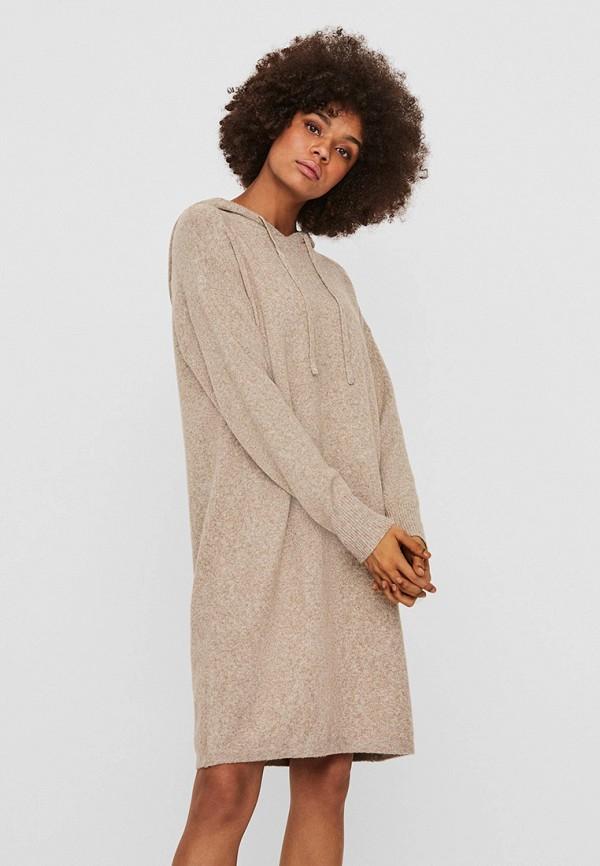 женское платье vero moda, бежевое