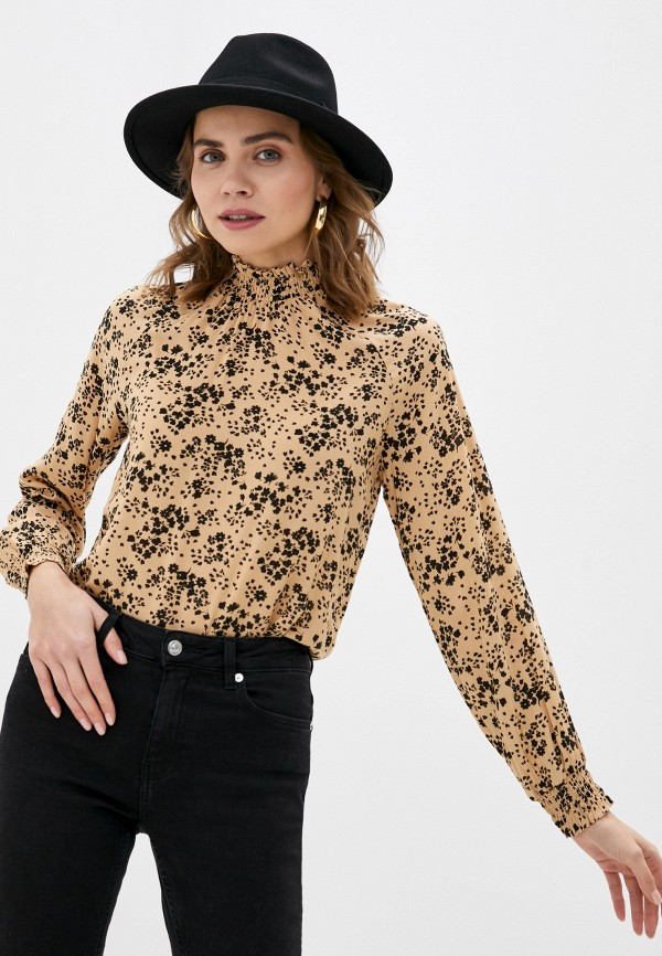 женская блузка vero moda, бежевая