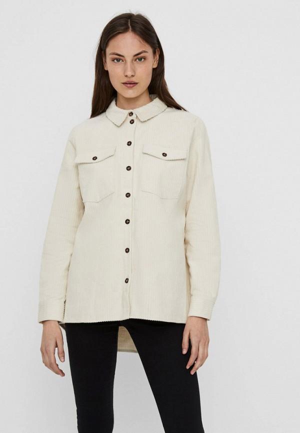 женская рубашка с длинным рукавом vero moda, белая