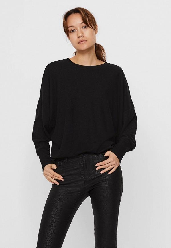 женский лонгслив vero moda, черный