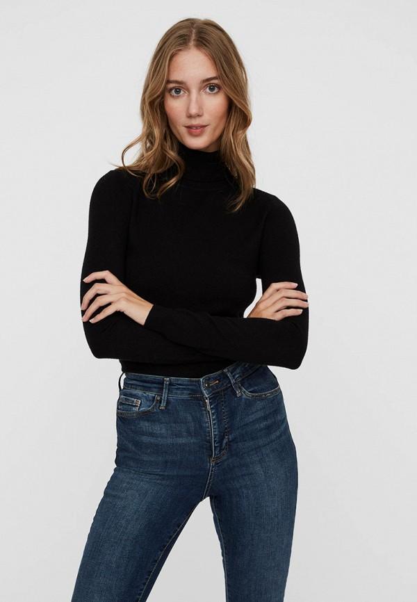 женская водолазка vero moda, черная