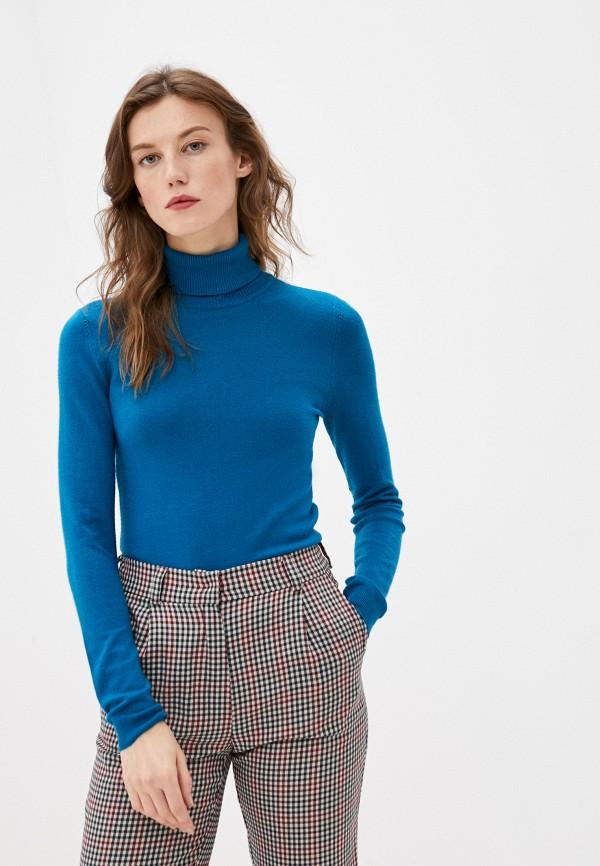 женская водолазка vero moda, синяя