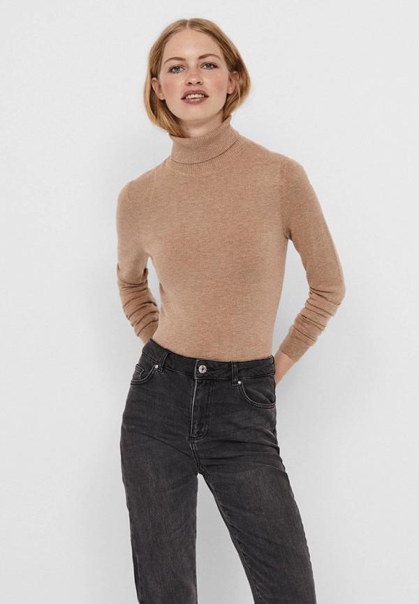 женская водолазка vero moda, бежевая